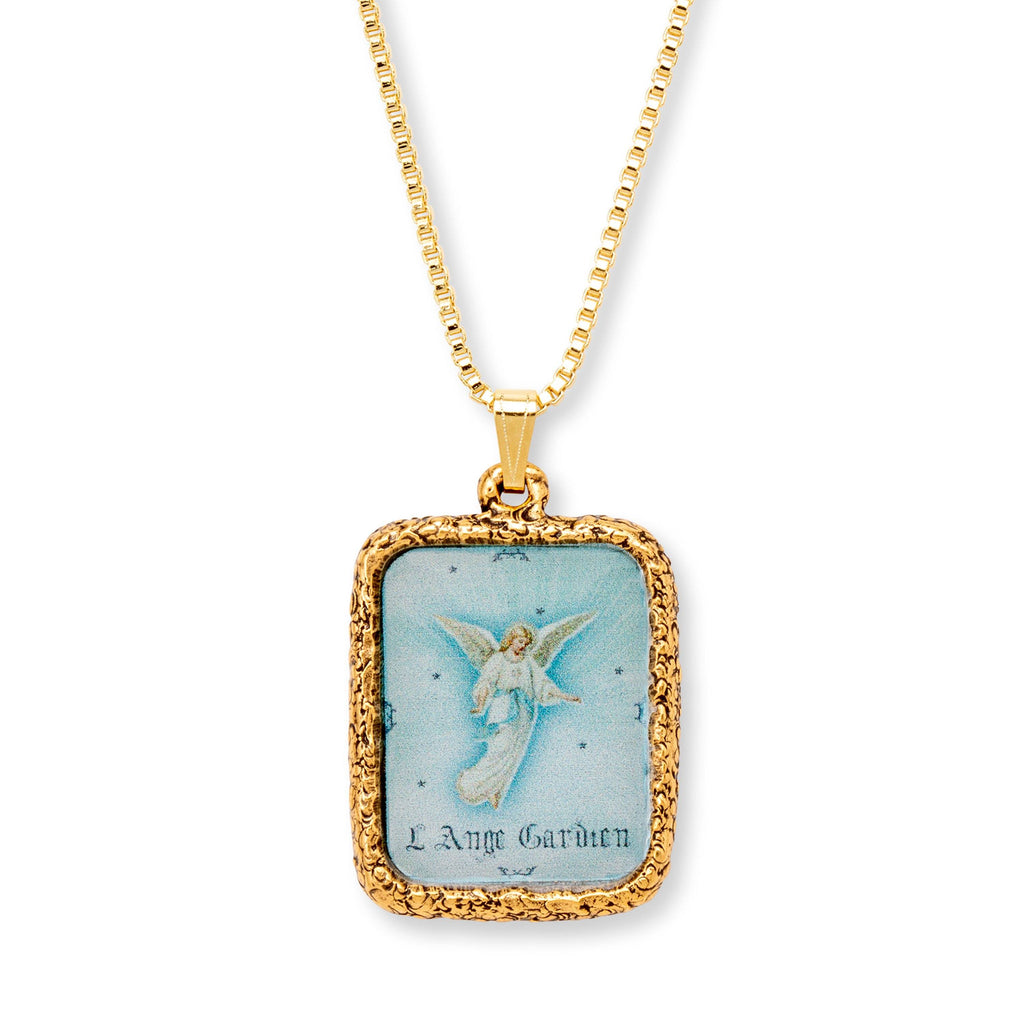 Guardian Angel Necklace choose finish:18k Gold Plated