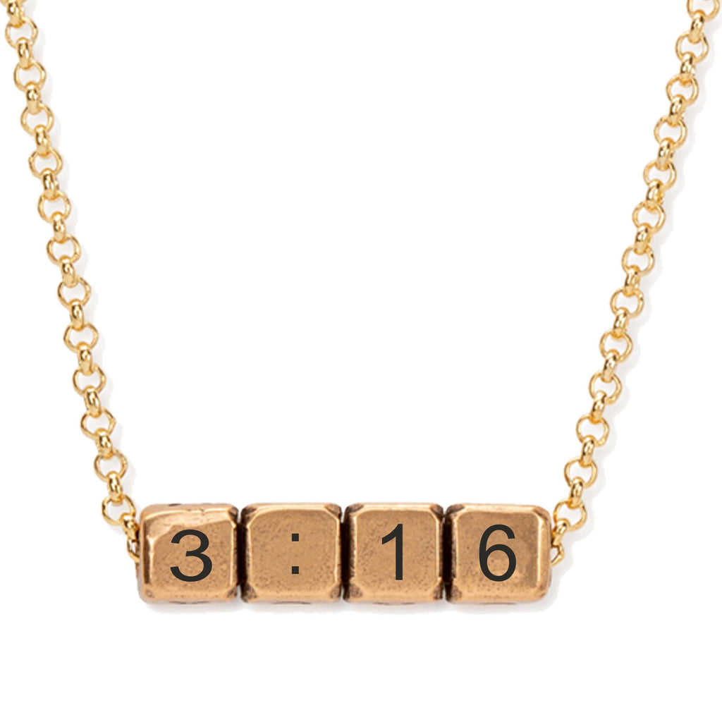 John 3:16 Blocks Necklace