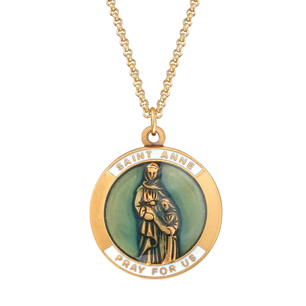 Saint Anne Necklace choose finish:18kt gold plated