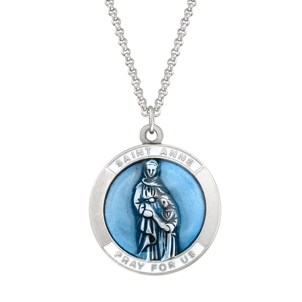 Saint Anne Necklace choose finish:silver plated