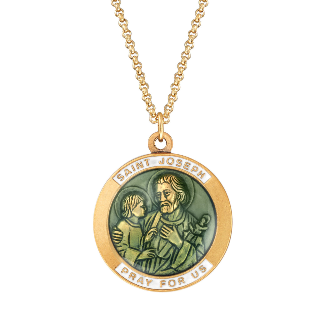 Saint Joseph Necklace choose finish:18kt gold plated
