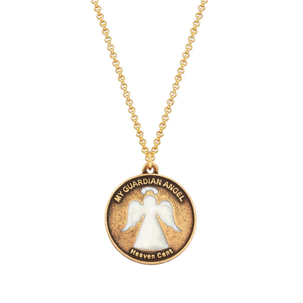 Heaven Cent Necklace choose finish:18k Gold Plated