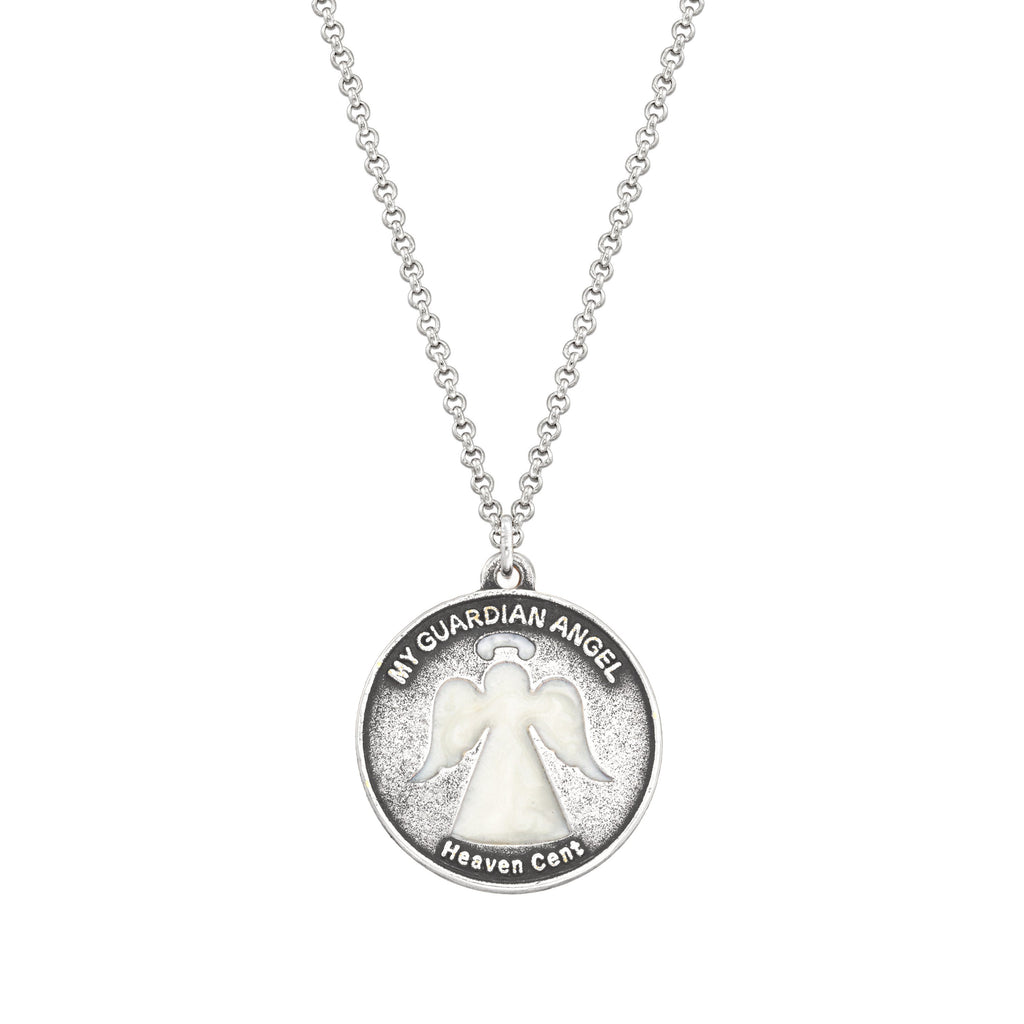 Heaven Cent Necklace choose finish:Silver Plated