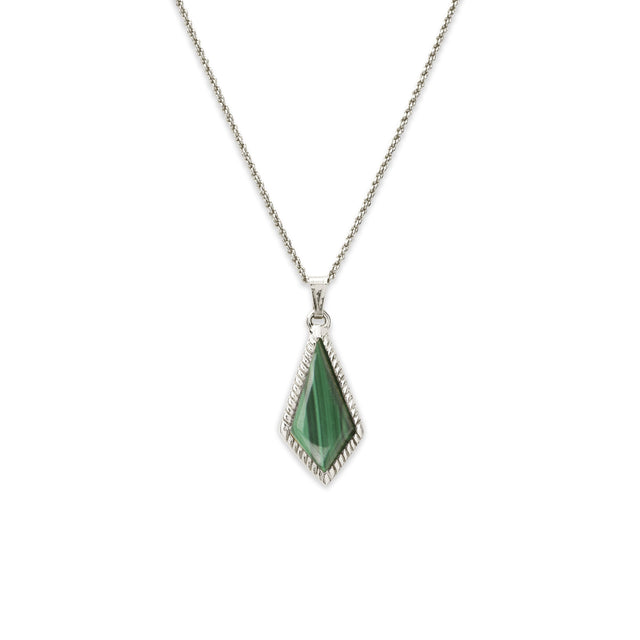 Sloane Necklace in Malachite