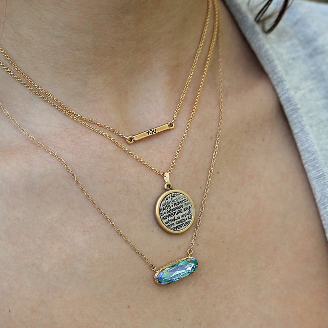 Adventure Awaits Necklace-Necklace-finish:-Luca + Danni