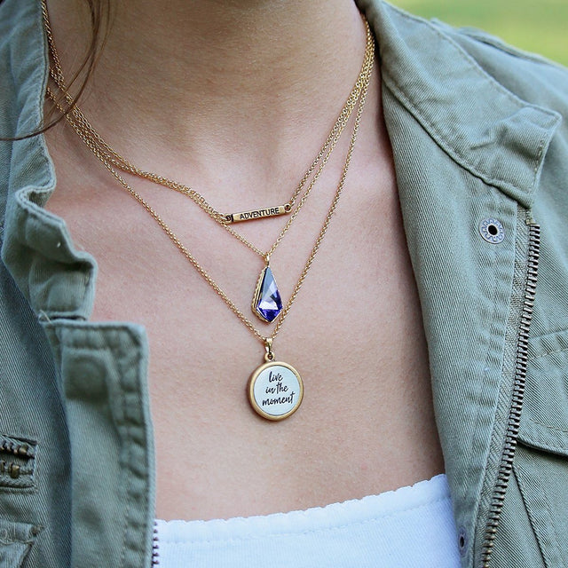 Sloane Sterling Necklace in Tanzanite-Necklace-finish:-Luca + Danni