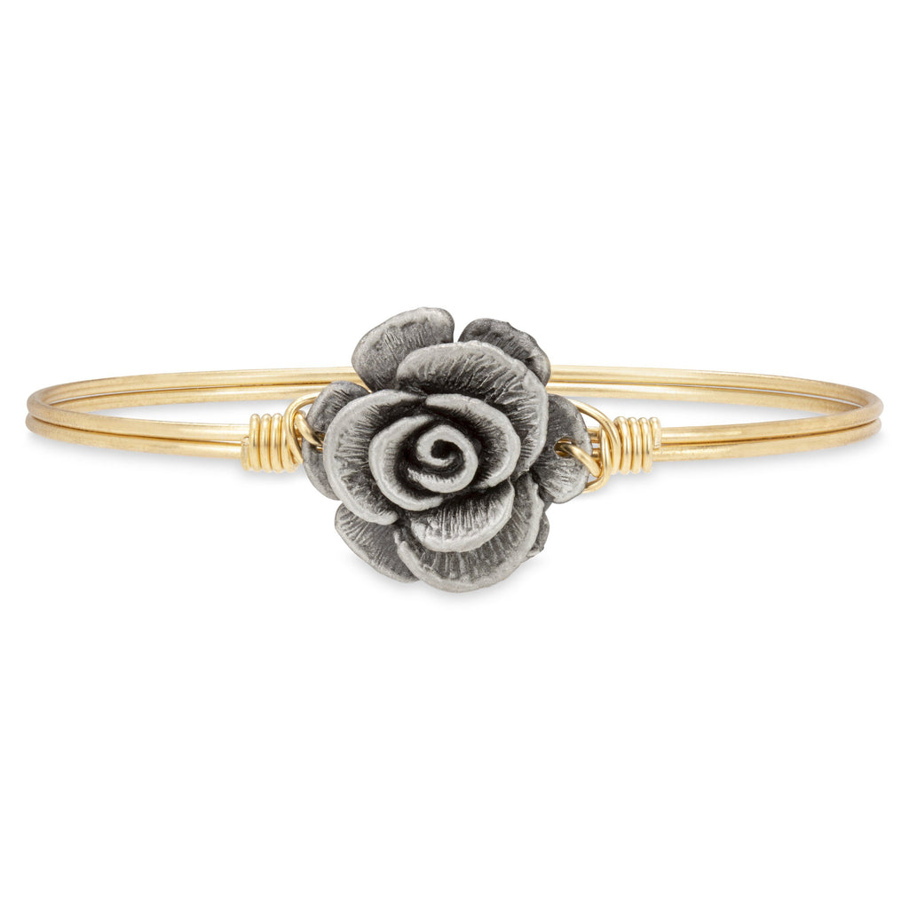 Rose Bangle Bracelet choose finish:Brass Tone