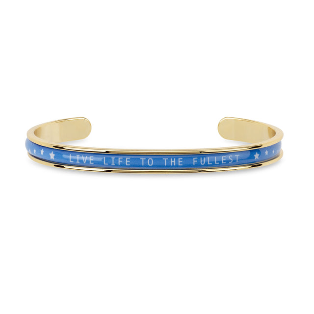 Autism Awareness Cuff finish:18k Gold Plated