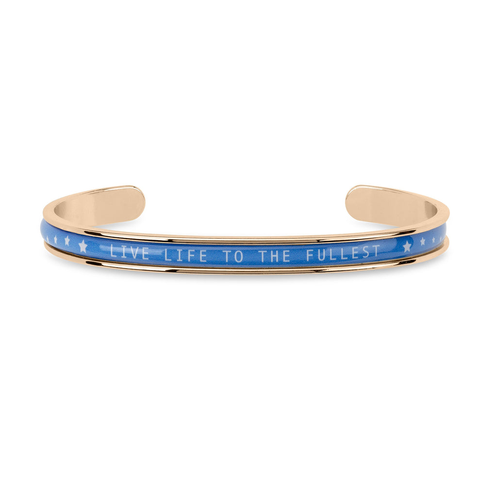 Autism Awareness Cuff finish:Rose Gold Plated