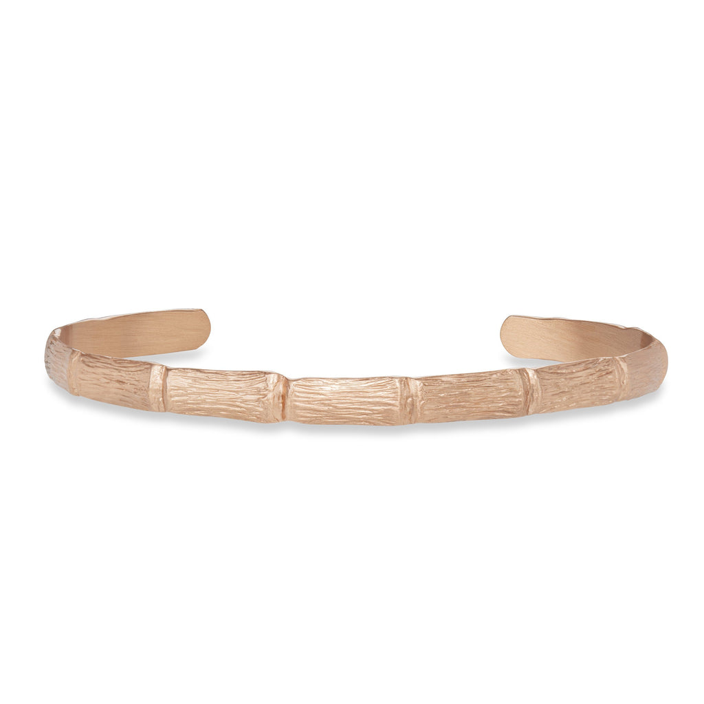 Bamboo Cuff Bracelet finish:Matte Rose Gold
