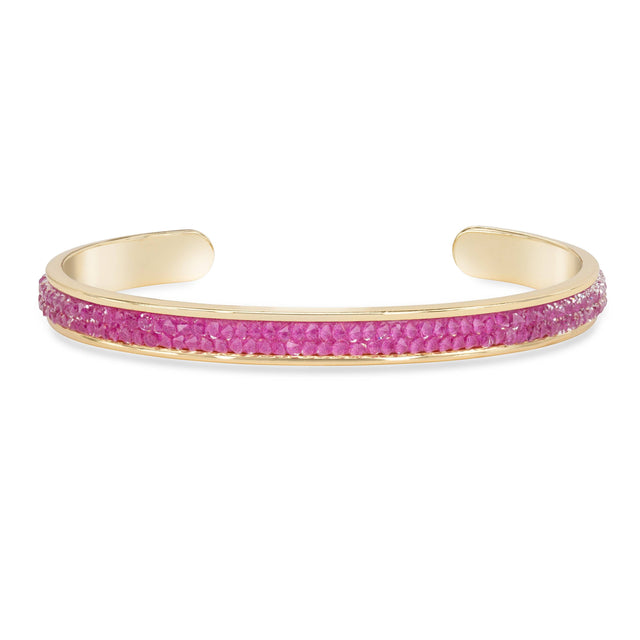 Druzy Channel Cuff in Watermelon finish:18k Gold Plated