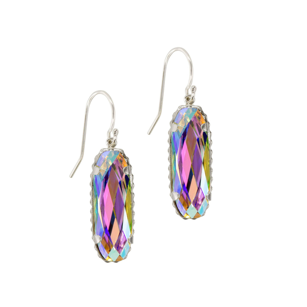 Sterling Silver Willow Earrings In Crystal AB