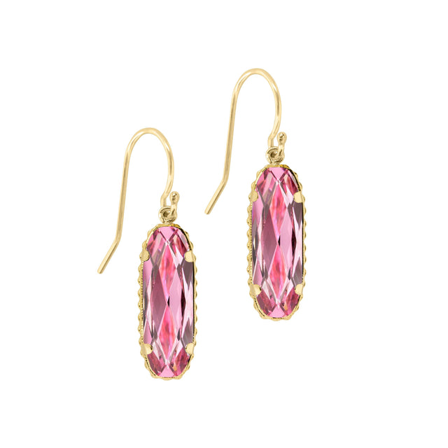 Sterling Silver Willow Earrings In Light Rose-Precious Metals Earrings-finish:18kt Gold Plated-Luca + Danni