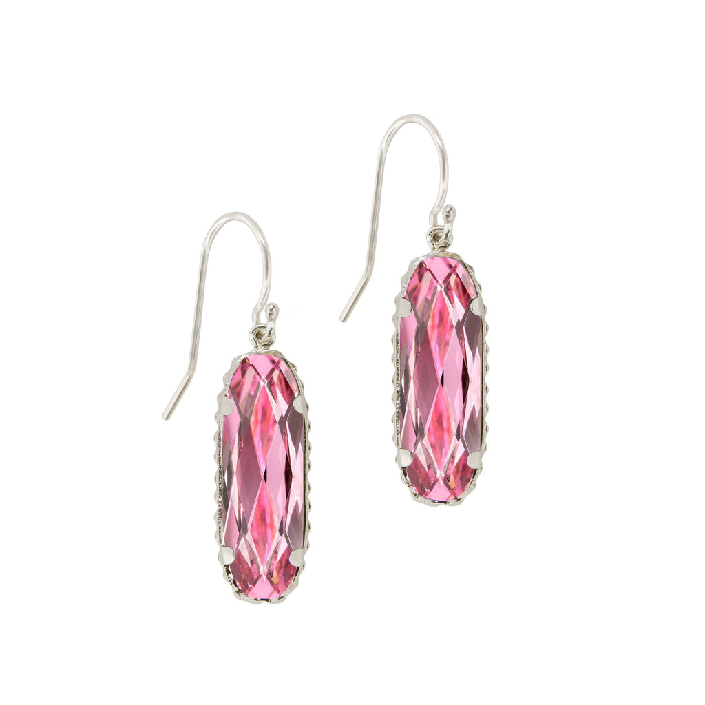 Sterling Silver Willow Earrings In Light Rose-Precious Metals Earrings-finish:Sterling Silver-Luca + Danni