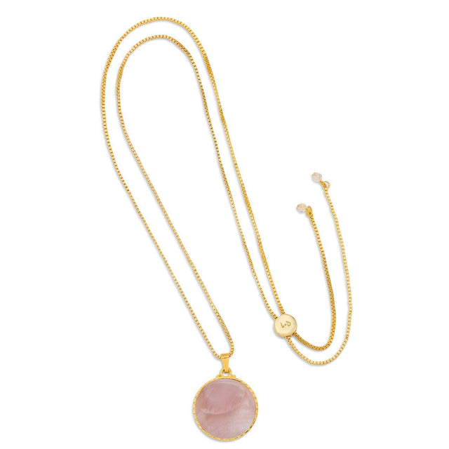 Kelsey Necklace in Pink Mussel Shell-Necklace-finish:18kt Gold Plated-Luca + Danni