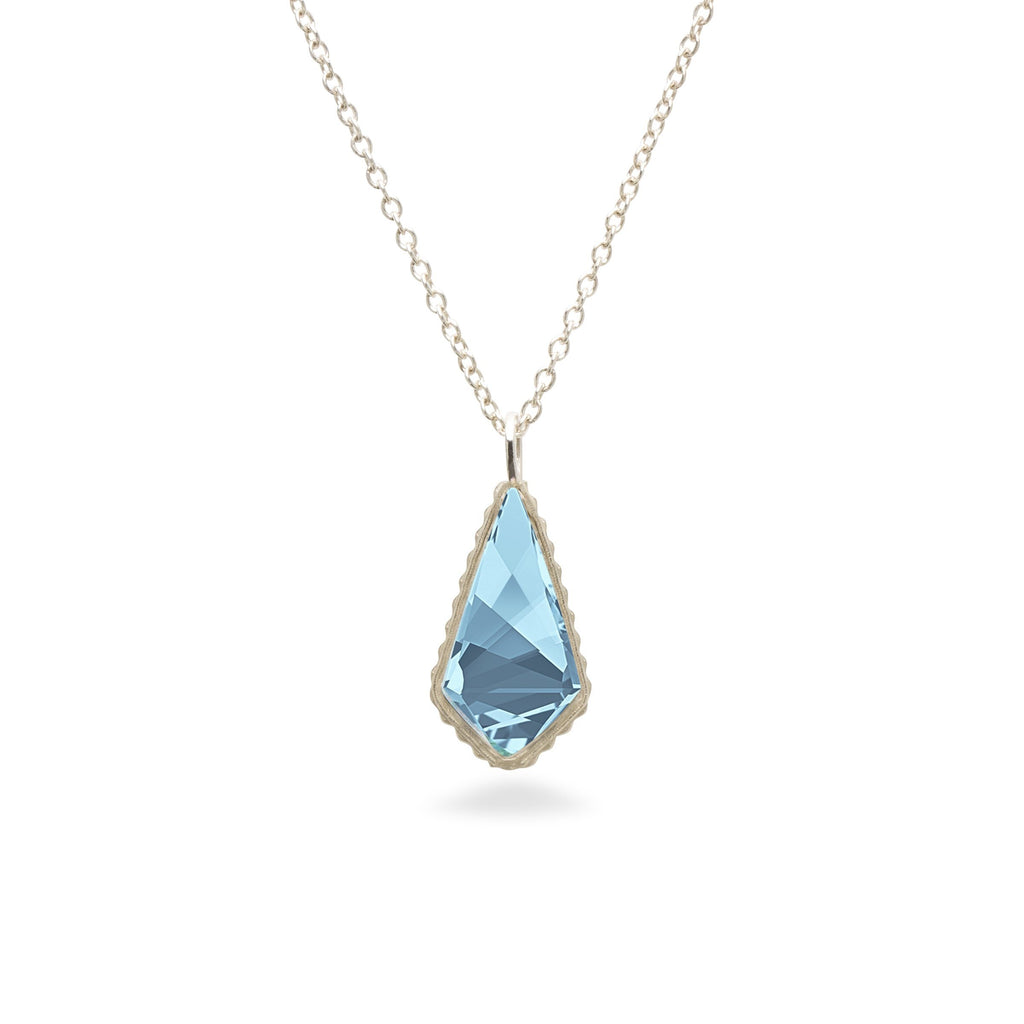 Sloane Sterling Necklace in Aqua