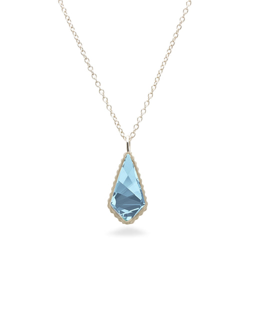 Sloane Sterling Necklace in Aqua-Necklace-finish:Sterling Silver-Luca + Danni