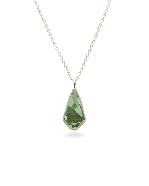Sloane Sterling Necklace in Emerald Green-Necklace-finish:Sterling Silver-Luca + Danni