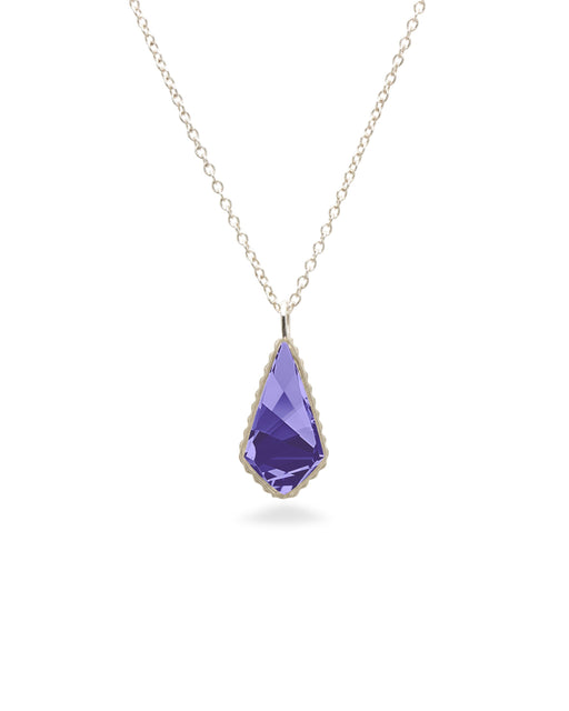 Sloane Sterling Necklace in Tanzanite-Necklace-finish:Sterling Silver-Luca + Danni