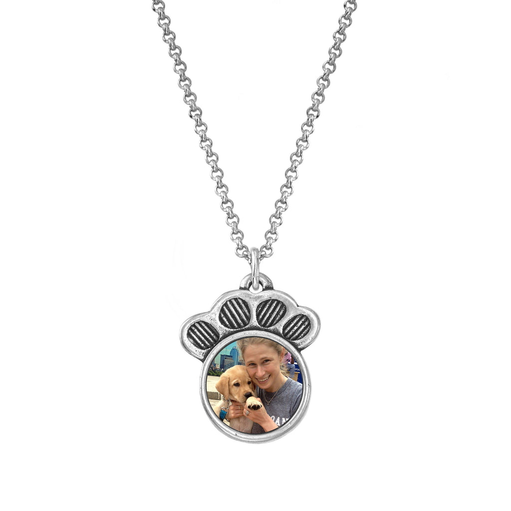 Pawprint Personalized Photo Necklace