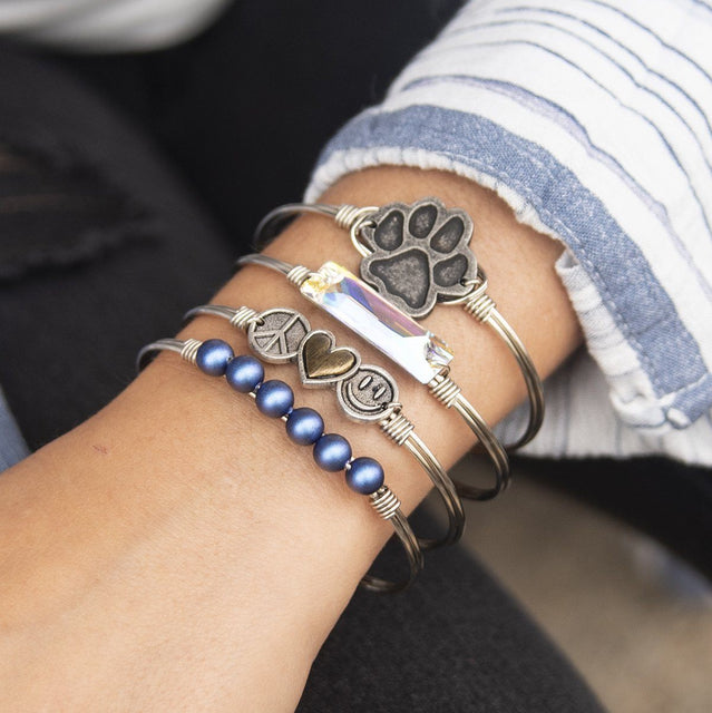 Trilogy Bangle Bracelet | Peace • Love • Happiness