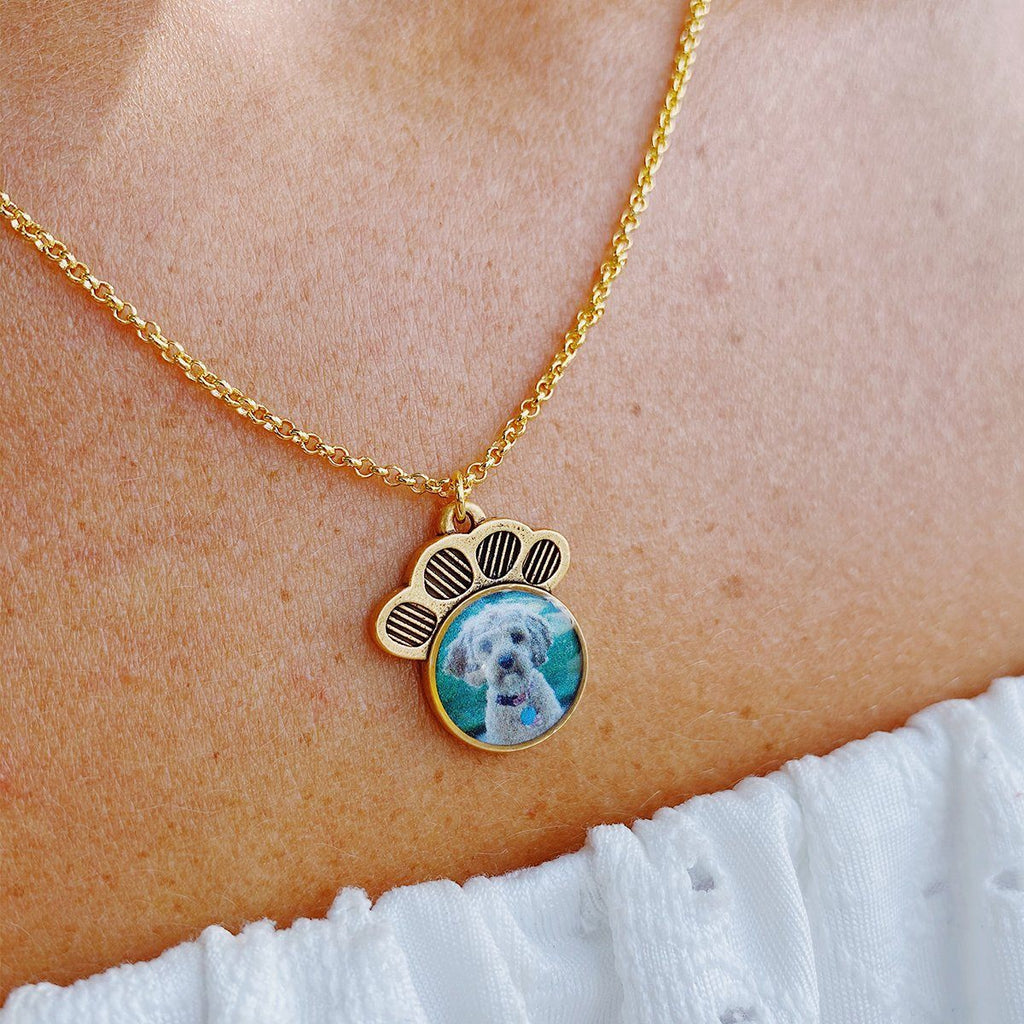 Pawprint Photo Necklace