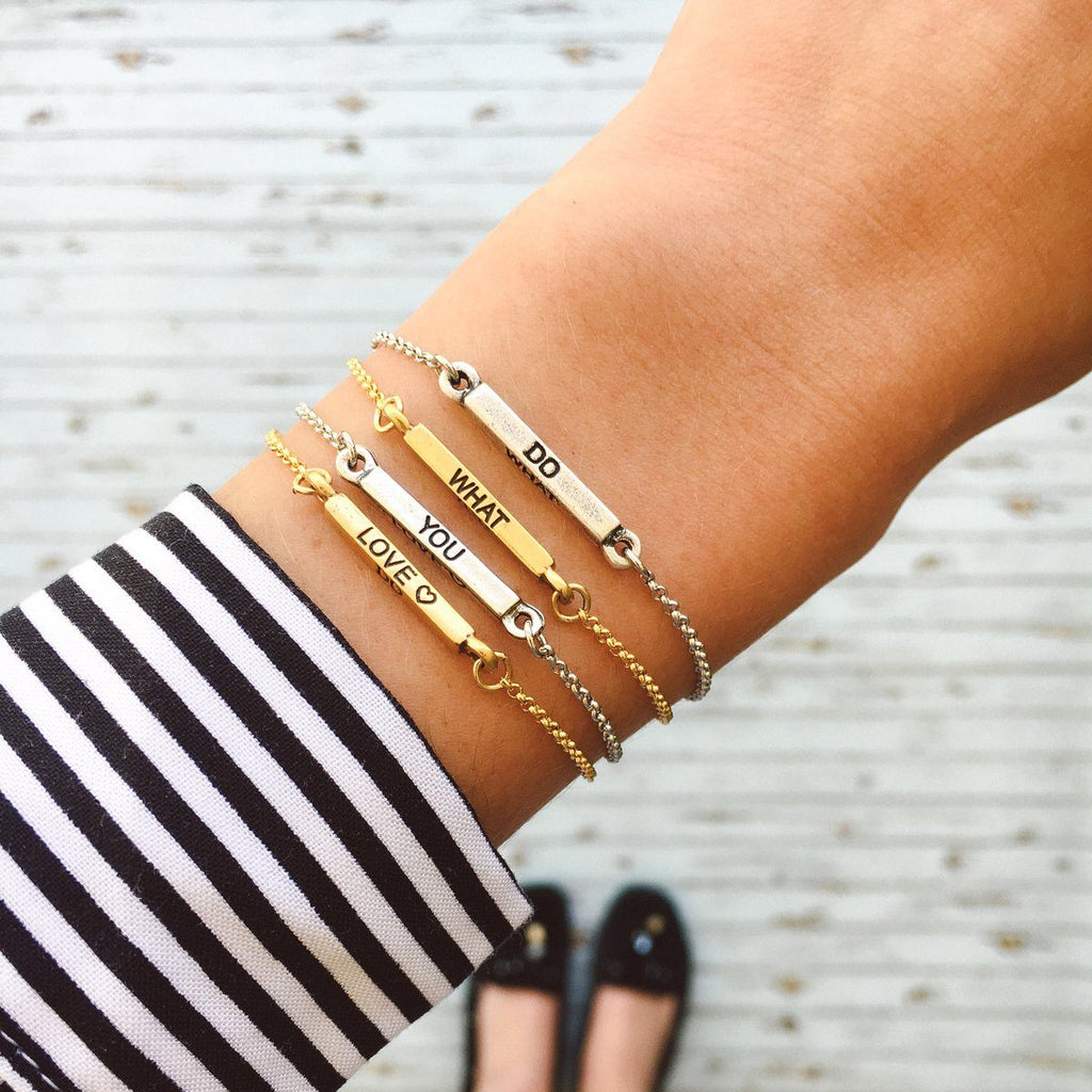 Do What You Love Slider Bracelet