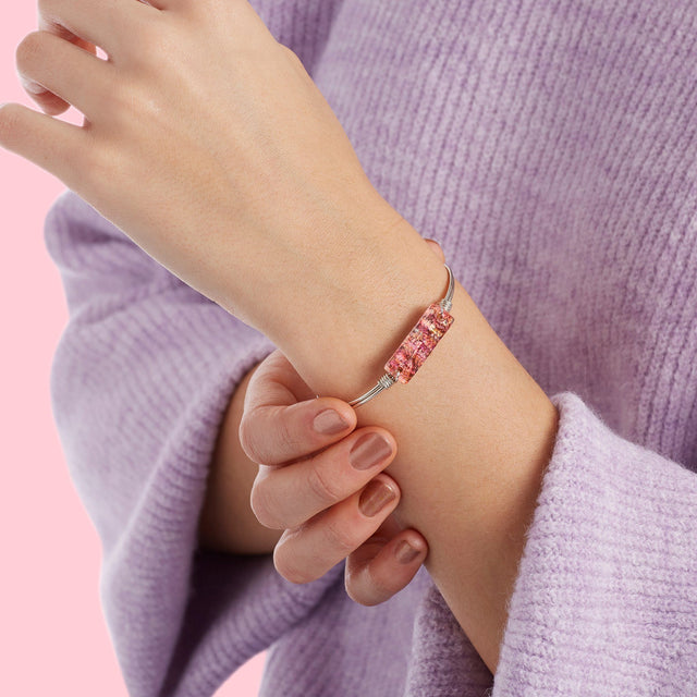 Hudson Bangle Bracelet in Pink Graffiti