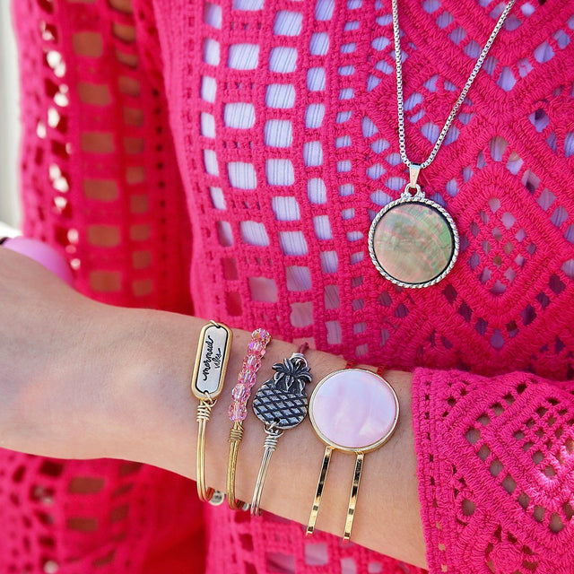 Kelsey Cuff in Pink Mussel Shell