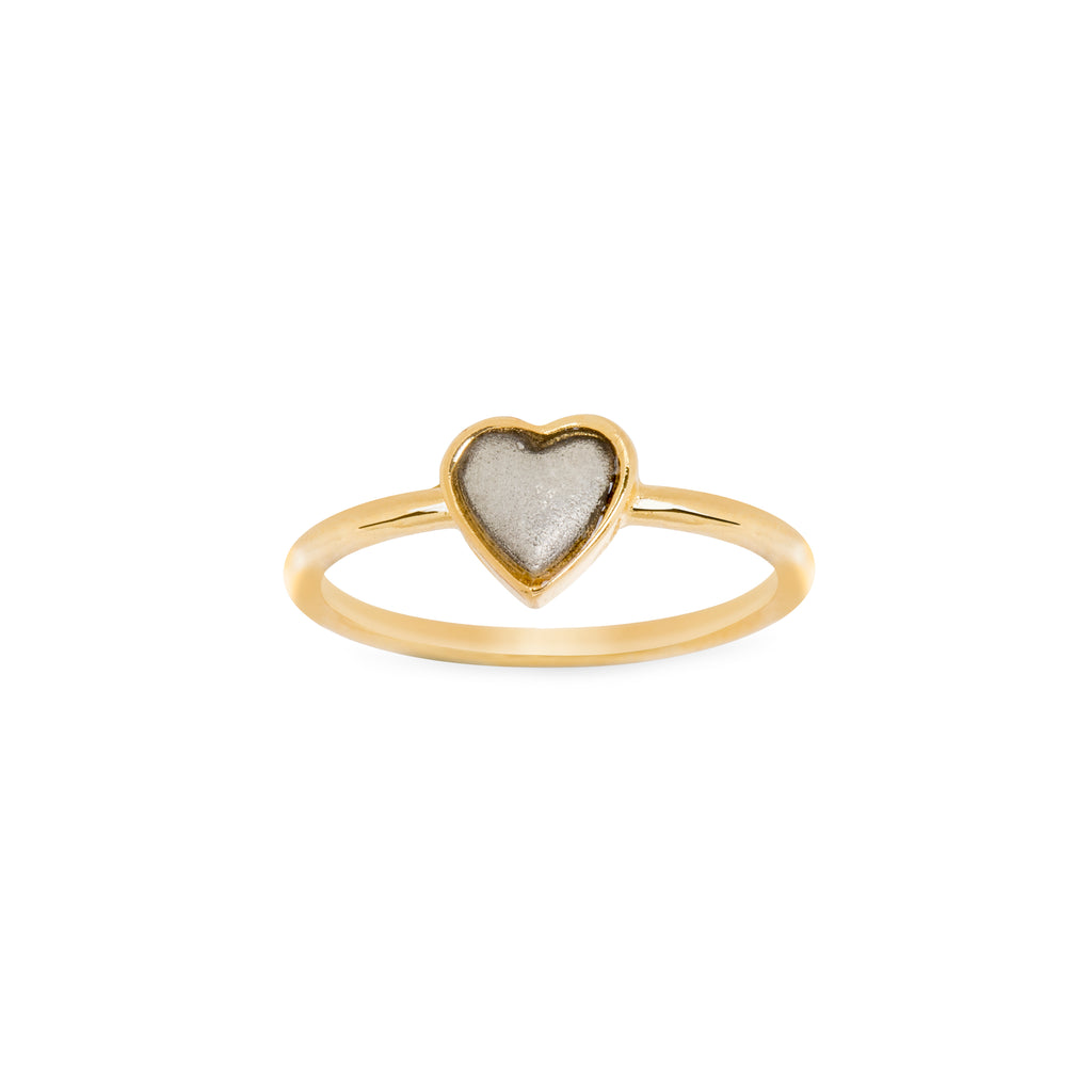Two Tone Heart Ring