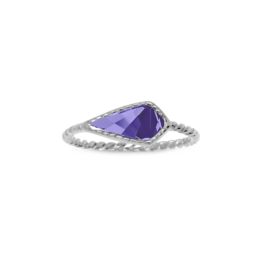 Sloane Ring in Tanzanite-Rings-finish:Silver Plated-Size 6-Luca + Danni