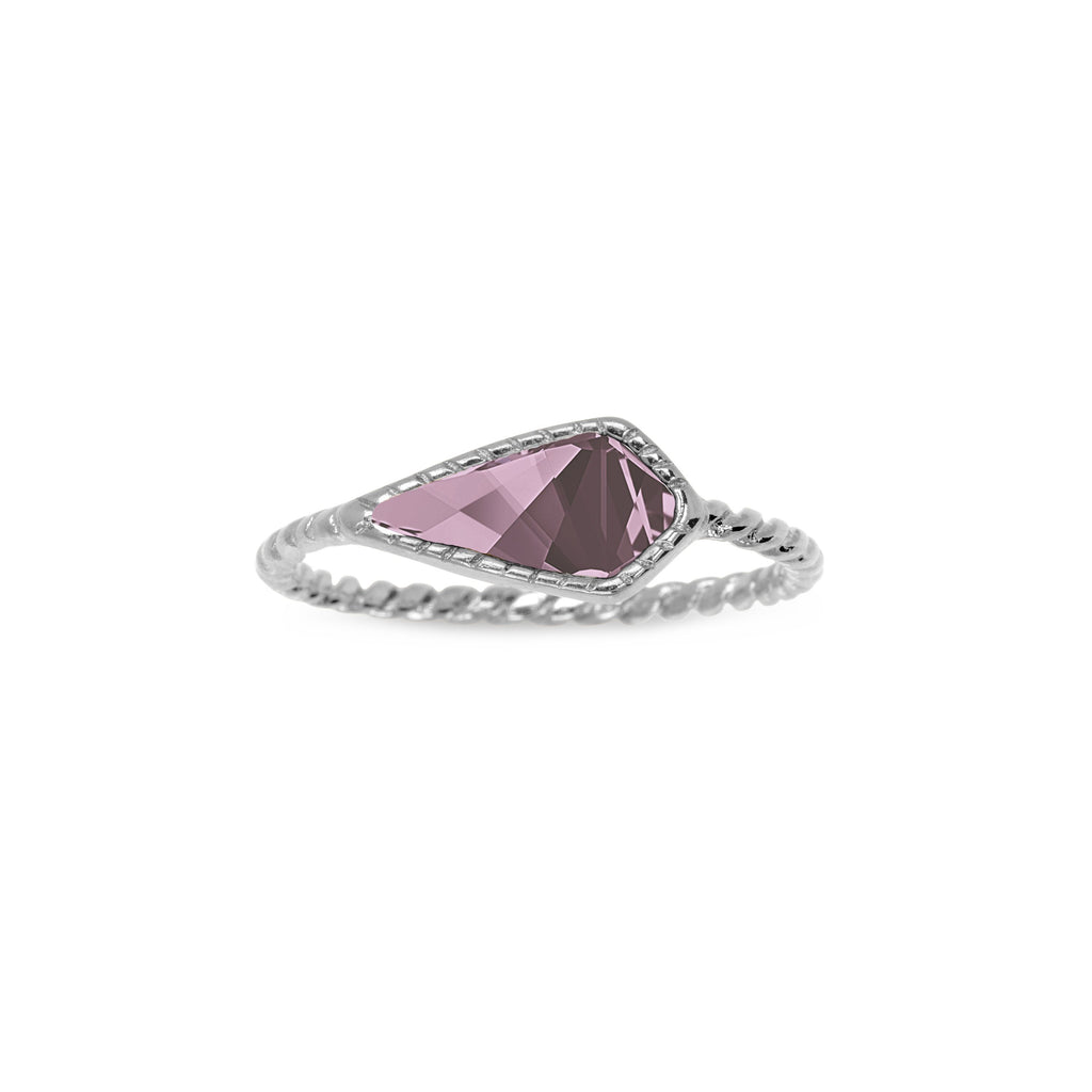 Sloane Ring in Antique Pink-Rings-finish:Silver Plated-Size 6-Luca + Danni