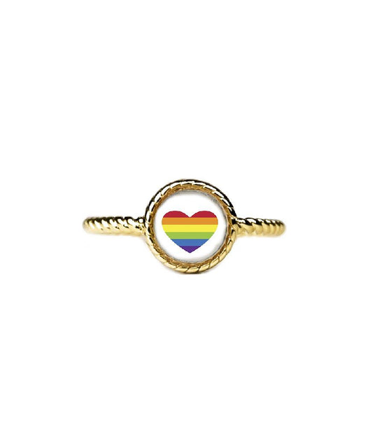 Love is Love Ring-Rings-finish:18kt Gold Plated-Size 6-Luca + Danni