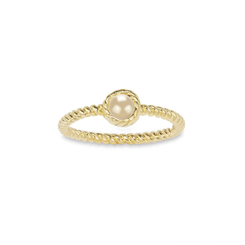 Crystal Pearl Ring in Champagne-Rings-finish:18kt Gold Plated-6-Luca + Danni