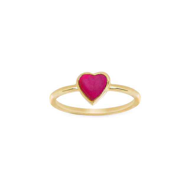 Cupid's Heart Ring finish:18K Gold Plated