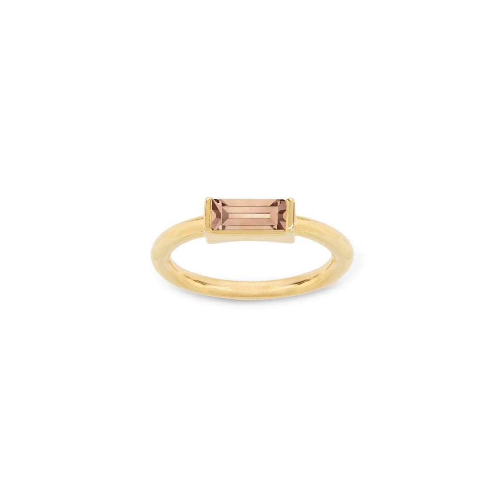 Mini Hudson Ring in Peach finish:18k Gold Plated