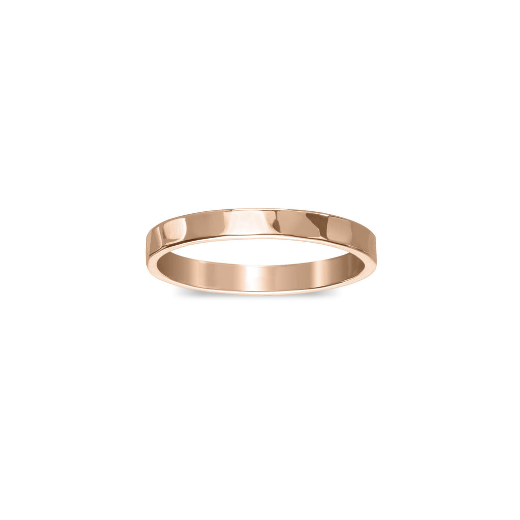 Hammered Ring finish:Rose Gold Plated