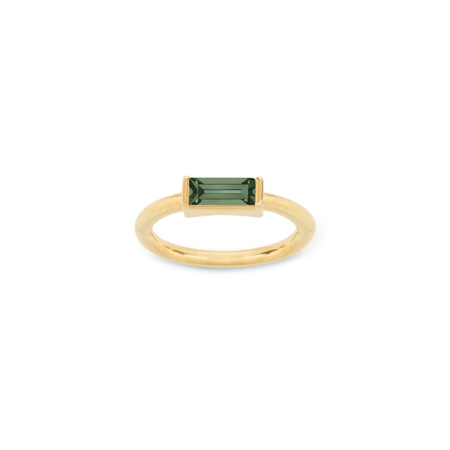 Mini Hudson Ring in Pine finish:18k Gold Plated