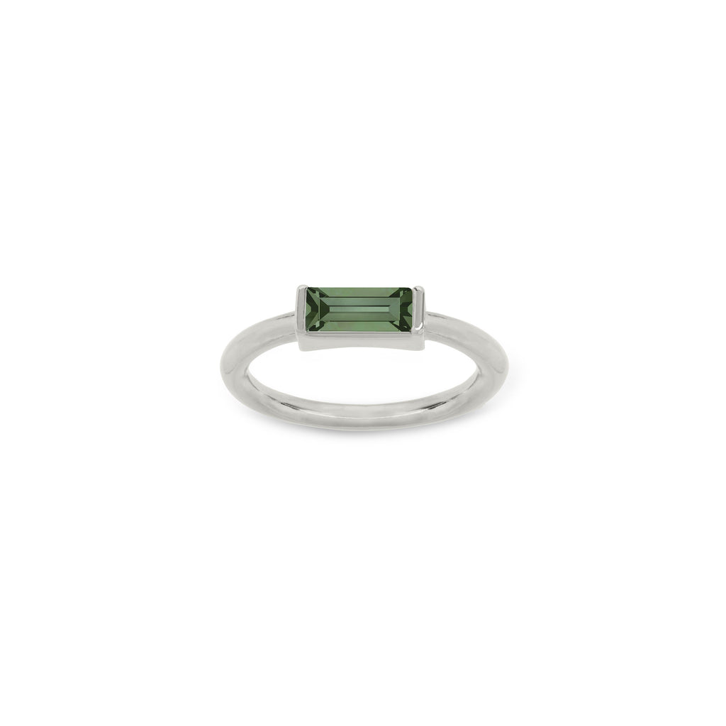 Mini Hudson Ring in Pine choose finish:Silver Plated