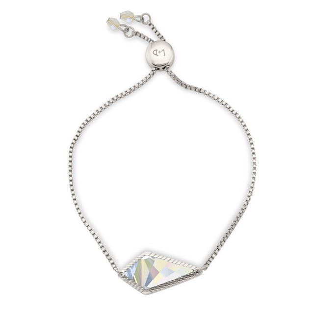 Sloane Slider Bracelet In Crystal AB-Slider Bracelet-finish:Silver Plated-Luca + Danni
