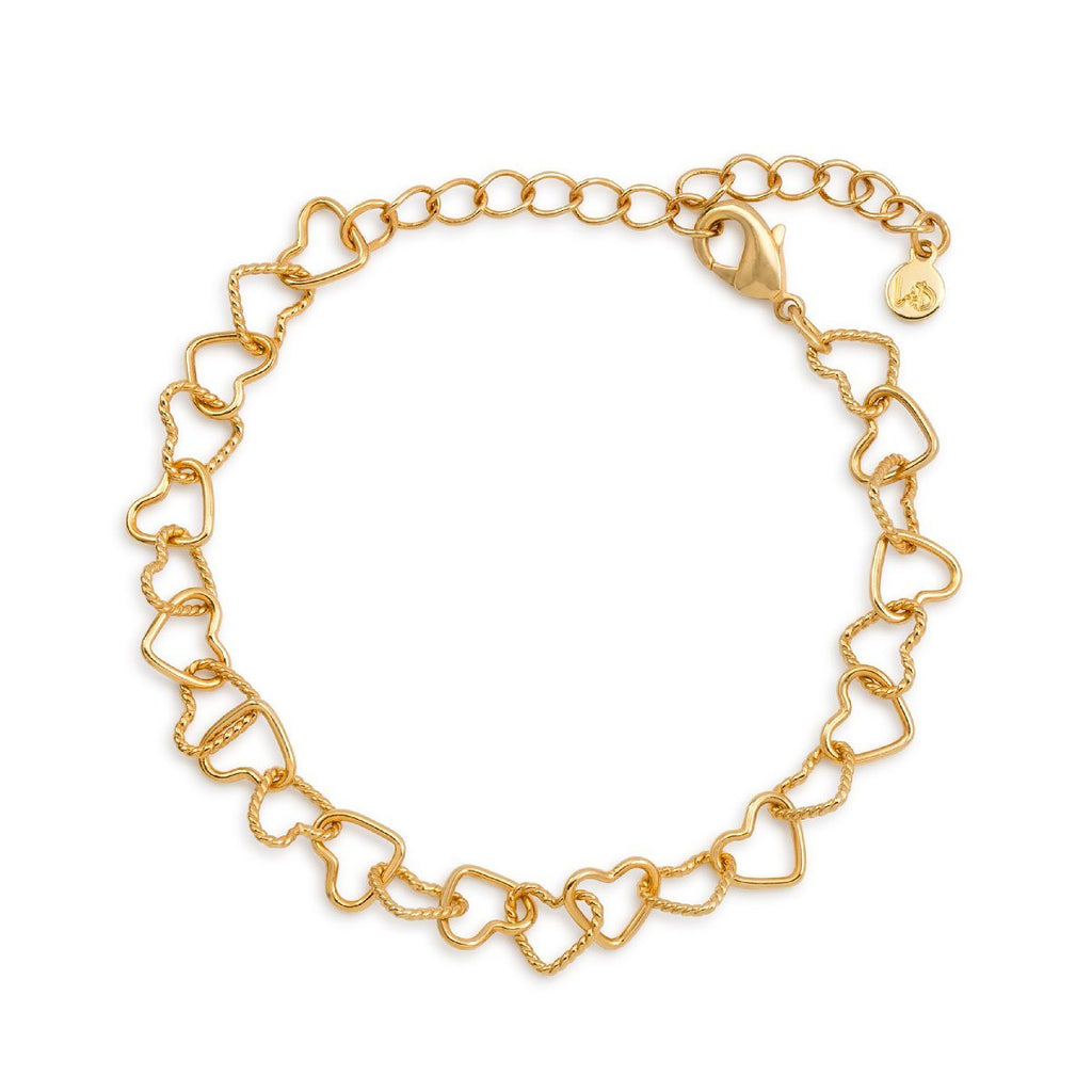 I Love Us Chain Bracelet finish:18k Gold Plated