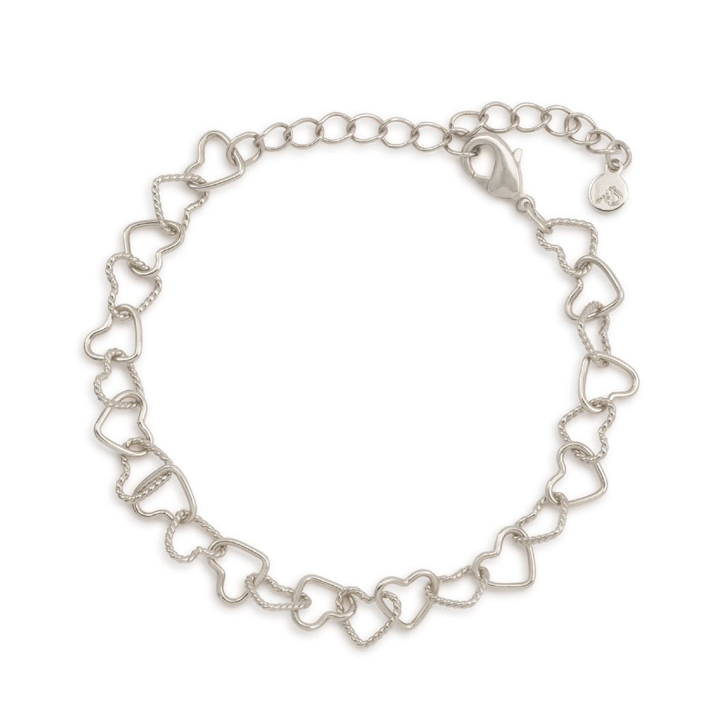 I Love Us Chain Bracelet finish:Silver Plated