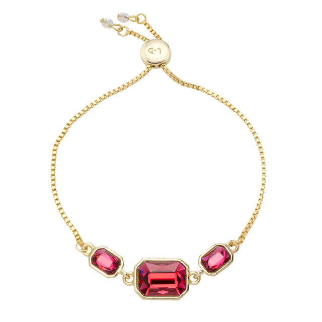 Dylan Slider Bracelet in Scarlet Red
