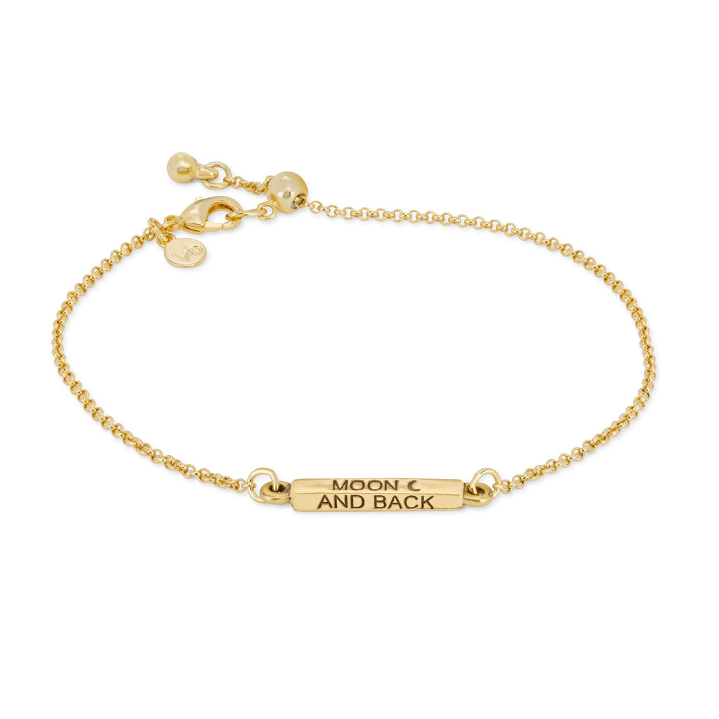 Moon & Back Slider Bracelet-Slider Bracelet-finish:18kt Gold Plated-Luca + Danni
