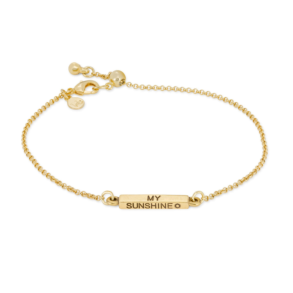 You Are My Sunshine Slider Bracelet-Slider Bracelet-finish:18kt Gold Plated-Luca + Danni