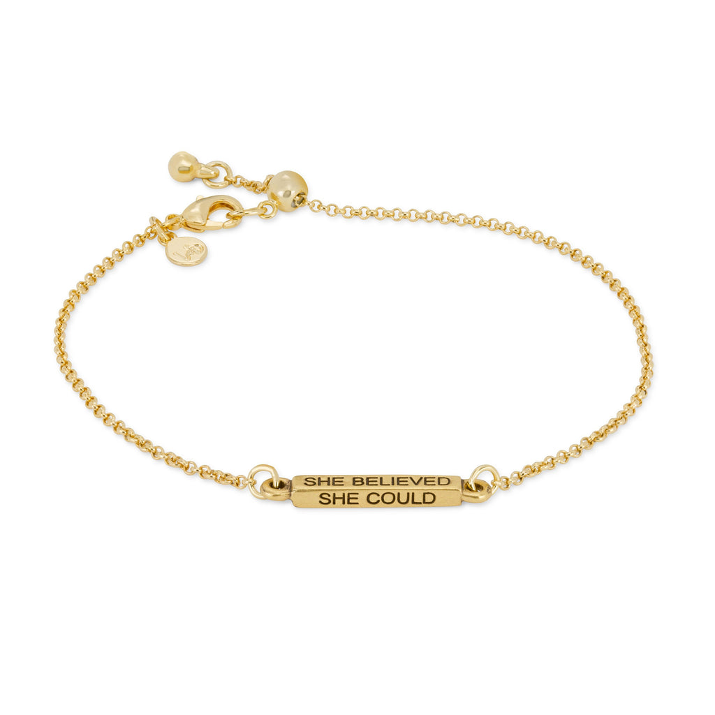 She Believed Slider Bracelet-Slider Bracelet-finish:18kt Gold Plated-Luca + Danni