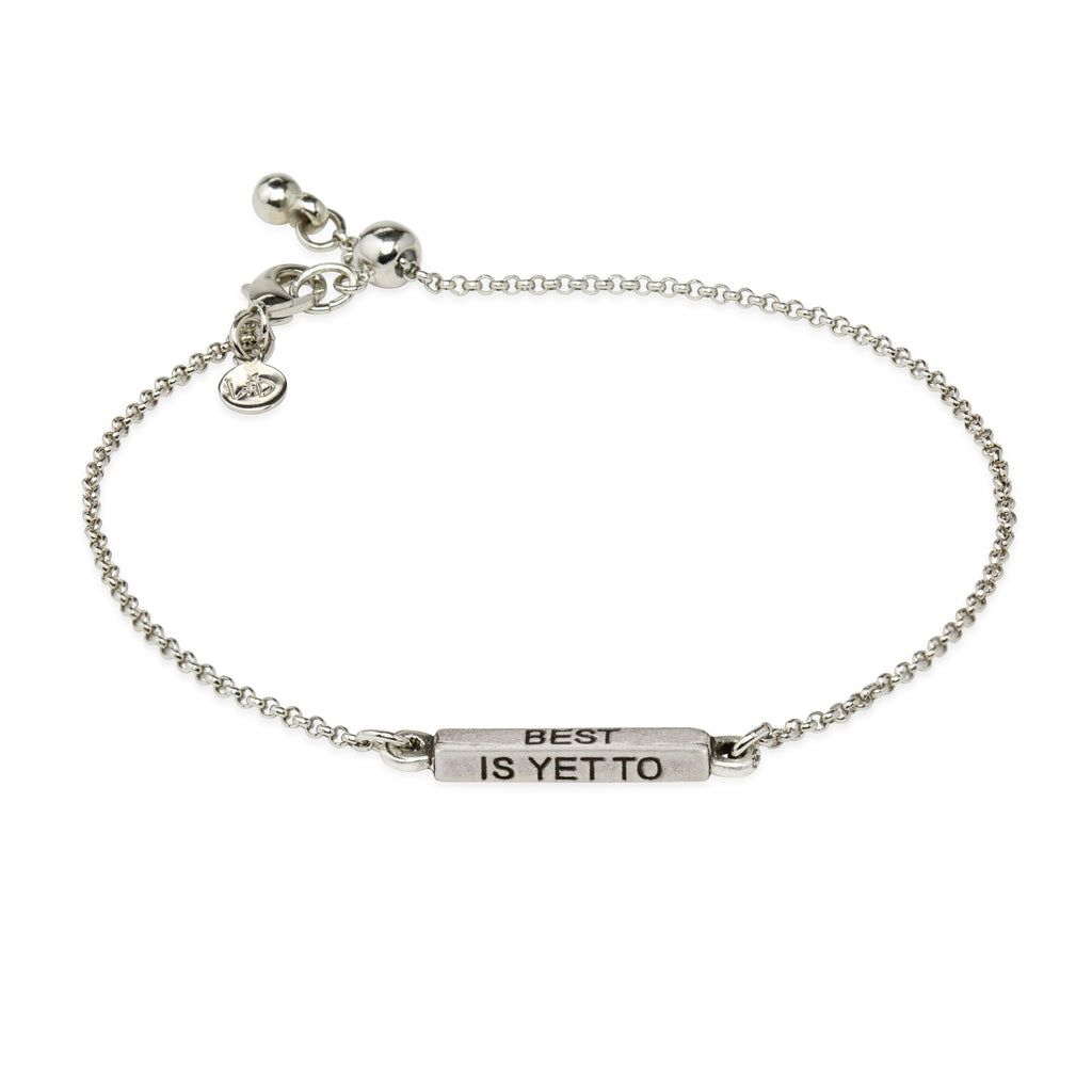 The Best Is Yet To Come Slider Bracelet
