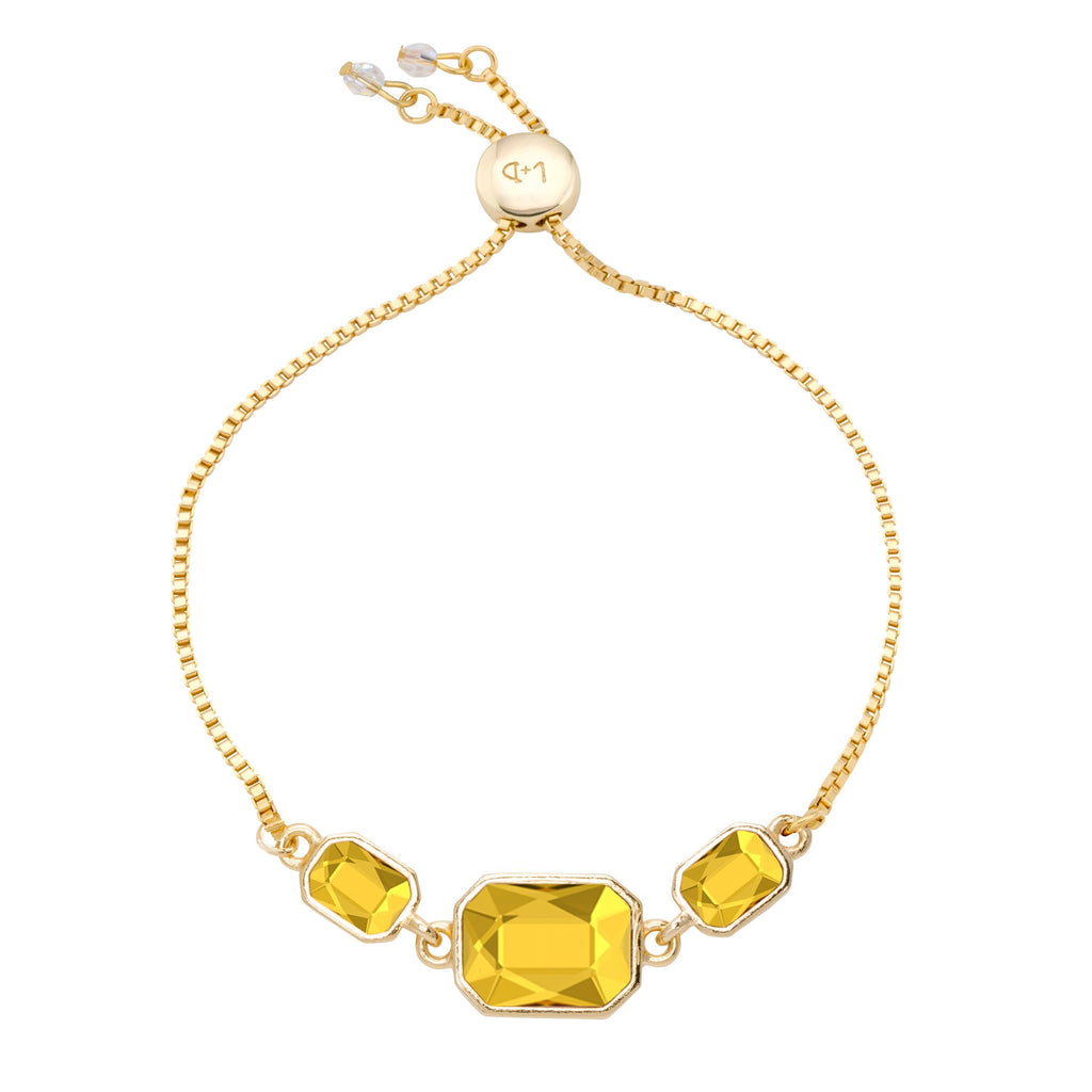 Dylan Slider Bracelet in Sunflower-Slider Bracelet-finish:18kt Gold Plated-Luca + Danni