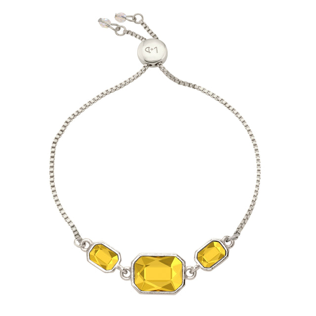 Dylan Slider Bracelet in Sunflower-Slider Bracelet-finish:Silver Plated-Luca + Danni