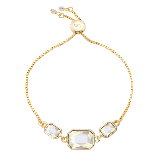 Dylan Slider Bracelet in Crystal AB-Slider Bracelet-finish:18kt Gold Plated-Luca + Danni